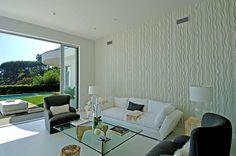 Textura para parede em gesso com desenhos ondulados