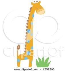 Royalty-Free Vector Clip Art Illustration of a Cute Giraffe by ...