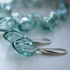 "https://flic.kr/p/t6fXVH | Новые формы! Сережечки ""Mint  olives"". New form of beads. Earrings ""Mint olives"" #handmade #bubbles #glass #lampwork #blow #bead #style #jewelry #yuliyadyubenko #mint #mywork #olives #юлиядюбенко  #earrings #серьги"