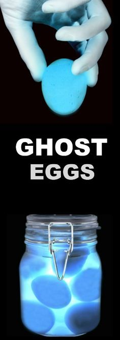 GHOST EGGS EXPERIMENT FOR KIDS