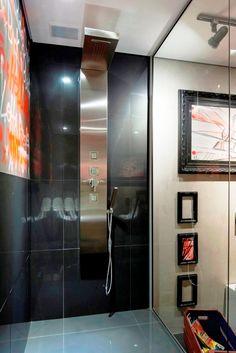 CHUVEIRO MODERNO = Adicione conforto e sofisticação na sua obra com os painéis de banho da Unique SPA (www.uniquespa.com.br)