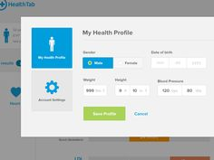 You're looking at the health profile modal (Probably Shrek's).  Lots of form love on this project.