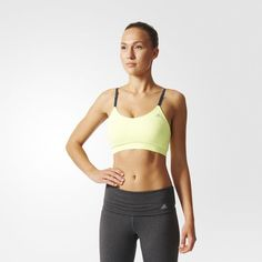 Brassière sans couture Three-in-One Padded - Frozen Yellow adidas   adidas France