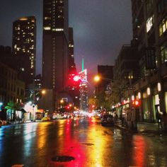 NYC 2014 Rainy Night- Photo by Gabriel Faldutto ®