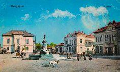 Fotografie rară cu centrul oraşului Drăgăşani în anul 1923 – DRAGA SANI