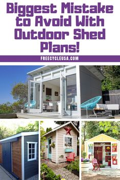 Sheds Designs: The Biggest Mistake to Avoid With Outdoor Shed Plans - All For Garden Backyard Sheds, Outdoor Sheds, Outdoor Shelters, Free Shed, Cheap Sheds, Wood Storage Sheds, Large Sheds, Aquaponics System, Backyard Aquaponics