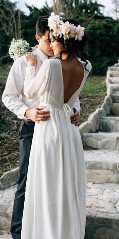 Of The Most Graceful Simple Wedding Dresses With Sleeves ★ See more: https://weddingdressesguide.com/simple-wedding-dresses-with-sleeves/ #bridalgown #weddingdress