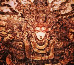 Shiva Art, Shiva Shakti, Hindu Art, Masculine Art, Om Namah Shivay, Lord Shiva Painting, Nataraja, Indian Gods, Visionary Art