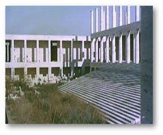 Il Palazzo dell'Archivio di Stato in costruzione tra il 1948 ed il 1950