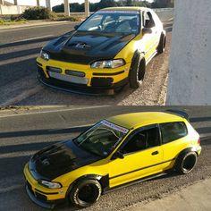 Supercharged K24 Honda Civic EG hatch belongs to @jc_k24eg on Instagram