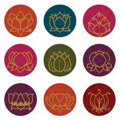 Golden Lotus Ornaments  Printable Digital Sheet by KalyaniDesigns, $7.00
