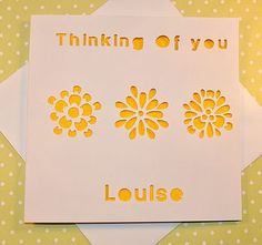 Personalised Laser Cut Thinking Of You Card