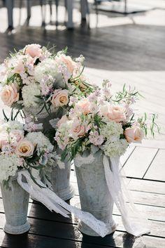 South Jersey Wedding Florist - A Garden Party Florist - The Reeds at Shelter Haven - Rachel Pearlman Photography - blush wedding - beach wedding