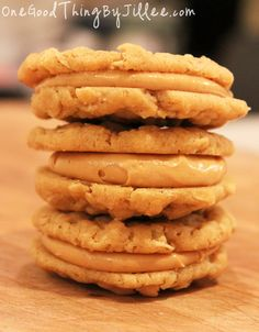 Heaven sent peanut butter cookies.  YUM!  Better than Nutter Butter