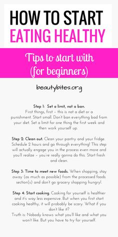 Clean Eating For Beginners: 6 steps to start eating healthy even if you're not motivated, rich or famous. These healthy eating tips are so important if you want to change your diet and start eating clean! Even if you've never eaten healthy in your life and aren't that motivated - these will help! | http://www.beautybites.org/clean-eating-for-beginners/ | Clean Eating Recipes