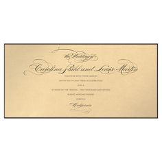 Luminesce Invitation with Cream Geneva Envelope by BRIDES Magazine and Checkerboard Designs - Invitation Box