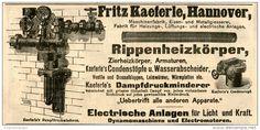 Original-Werbung/ Anzeige 1903 : DAMPFDRUCKMINDERER / FRITZ KAEFERLE - HANNOVER - ca  200 x 90 mm