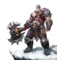Barbarian warrior from the wastes to the North. Once per round, when you score a critical hit with a barbarian attack power, you can immediately make a melee basic attack as a free action. You do not have to attack the same target that you scored a critical hit against.