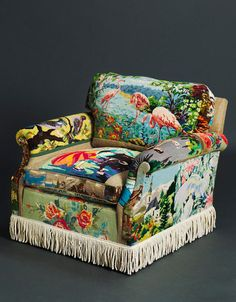Tapestry Chair eclectic armchairs
