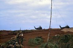 Camp Carrol tank slot next to H-34's and LZ.....