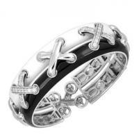 Belle Etoile Maille Black Bangle #imagesjewelers #belleetoile #bracelet #bangle