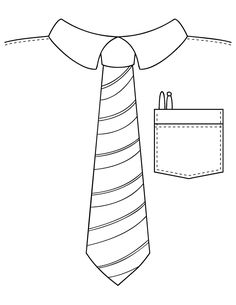 tie coloring pages for kids #father'sday