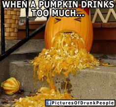 Fat Pumpkin can't hear your concerns over all this vomit. 28 Pumpkins Who Are Clearly Alcoholics Puking Pumpkin, A Pumpkin, Pumpkin Carving, Pumpkin Drinks, Hawaiian Punch, Outdoor Halloween, Halloween Stuff, Halloween Ideas, Funny People Pictures