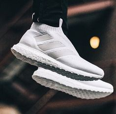The adidas PureControl Ultra Boost 'Triple White' just released out of nowhere & instantly sold out. Are these ? #NiceKicks @danielkobin