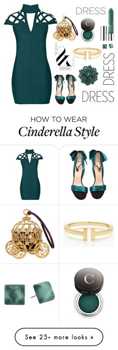"""""""Choker Dress: Cocktail time"""" by zouus on Polyvore featuring Rare London, Christian Louboutin, Tiffany & Co., Chantecaille, Clinique, Alexis Bittar, vintage, topshop and chokerdress"""