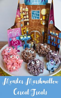 Monster Marshmallow Cereal Treats #SpooktacularSnacks #Ad