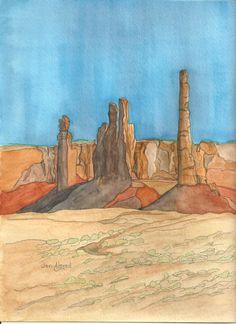Totem Pole Formation by jonalmondartworks on Etsy