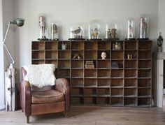 Pigeon hole unit and other beautiful vintage finds. Oh, yes, please!