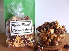 Homemade Moose Munch (and a Peppermint-White Chocolate variation) with steps to make an easy no-HFCS caramel corn - this is my most-requested Christmas goodie, hands-down! An Oregon Cottage