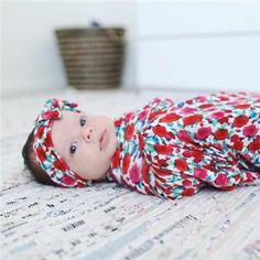 Beach Baby Swaddle & Headband Set – Milkmaid Goods