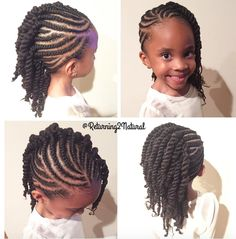 Cute kid friendly style by @returning2natural  Read the article here - http://blackhairinformation.com/hairstyle-gallery/cute-kid-friendly-style-returning2natural/