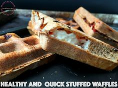 healthy and quick stuffed waffles