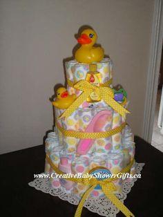 diaper cakes... fun idea!
