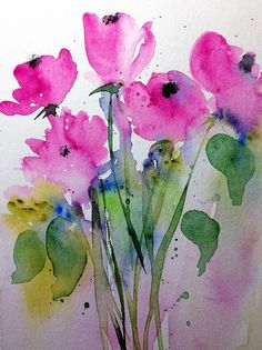 Floral Art Print featuring the painting Wild Flowers 3 by Britta Zehm