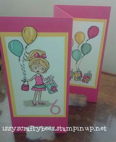 Birthday card for my niece.  Using Hey Girl stamp set by Stampin Up!