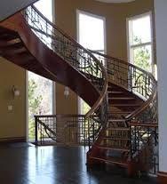 Výsledek obrázku pro curved wood stairs