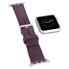 Apple Watch Band Genuine Leather, Wife Gift Unique Gift for her, Apple Watch Leather Band, 38mm 42mm // Antique Purple by…