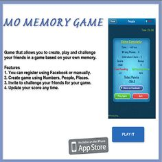 If you're super organised, you could make record. Play #MOMEMORYGAME and challenges your friends.