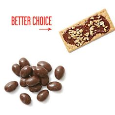Instead of eating chocolate almonds, spread Nutella on a Graham cracker and top with nuts. | 26 Food Swaps To Make You Healthier