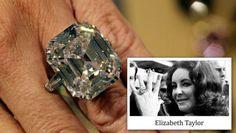Elizabeth Taylor 14k White Gold 16x13MM Asscher Cut Diamond Engagement Ring