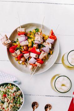 Grilled Summer Chicken Skewers