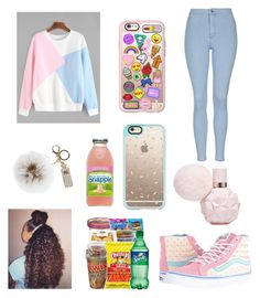 """""""Untitled #126"""" by babymeano ❤ liked on Polyvore featuring Overland Sheepskin Co., Casetify, Vans and Topshop"""