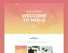 A great collection of Best single page website templates PSD from Professional designers worldwide, feel free to use them as you like. Portfolio Web Design, First Page, Working On Myself, Psd Templates, Website Template, New Work, Feelings, Behance