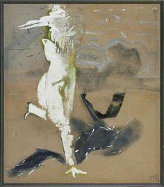 Teresa Pągowska | <i>MEWA I CIEŃ, 1986</i> | tempera, akryl, płótno | 150 x 130 cm