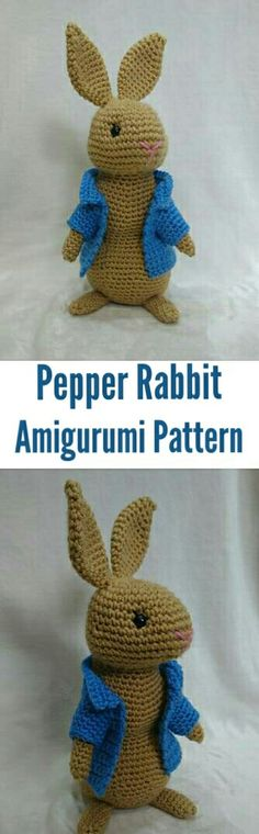 Pepper rabbit Amigurumi crochet pattern