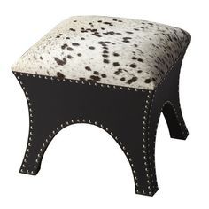 Expressions Cowhide Ottoman.  $368 one day left.  Isn't that adorable??  There is a bench too on jossandmain.com